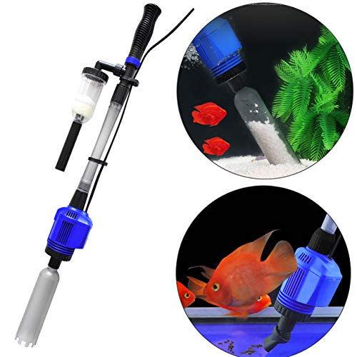 Fish Food Supplies | COODIA Vacuum Gravel Cleaner Automatic Aquarium Sludge Extractor Water Changer, 3 in1 16W, Gym exercise ab workouts - shap2.com