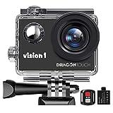 Dragon Touch Caméra Sport 1080P Action Caméra Caméscope Etanche sous l'eau...