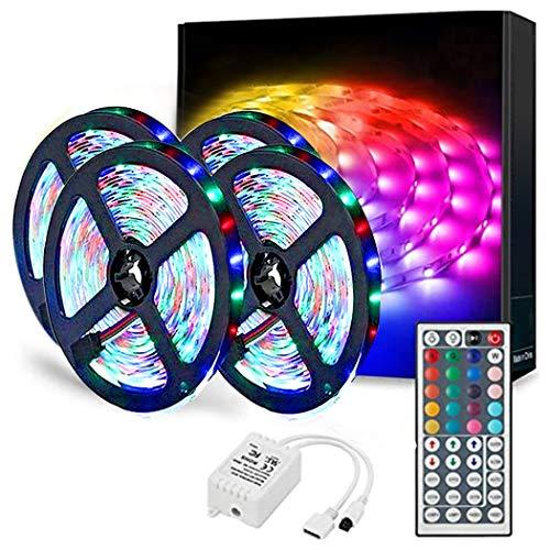 Luci LED per camera da letto, telecomando a infrarossi a 44 tasti, luci LED RGB con luce soffusa, utilizzate per la casa, il bar, le luci della decorazione della camera da letto (10m)