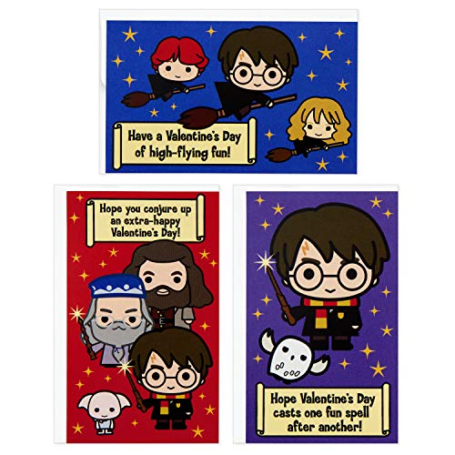 Hallmark Kids Harry Potter Mini Valentines Day Cards Assortment (12 Cards with Envelopes)