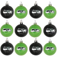 Officially Licensed Set includes 12 lightweight, plastic ball ornaments in two team-colored varieties Team logo display on each Diameter - Approximately 2 in. each