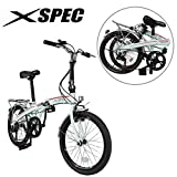 Xspec 20' 7 Speed City Folding Mini Compact Bike Bicycle Urban Commuter, White