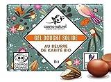 Gel Douche solide Bio au Beurre de Karité 85G, fabriqué en France par laboratoires...