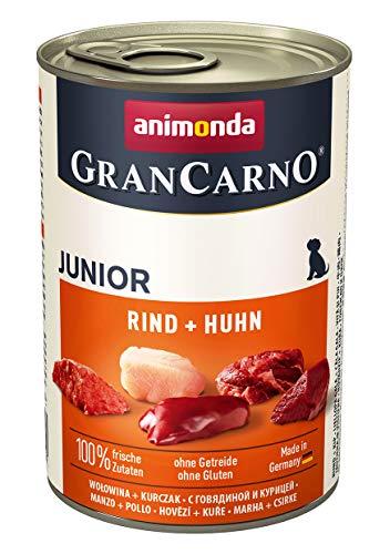 animonda GranCarno Hundefutter Junior, Nassfutter für Hunde im Wachstum, Rind +...