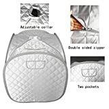ZONEMEL Portable Steam Sauna Tent, Lightweight Folding Tent, Personal Steam Sauna SPA for Weight Loss Detox Therapy, Steamer NOT Included-Silver