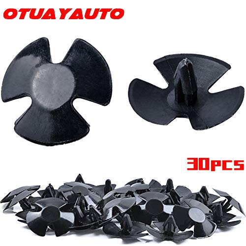 OTUAYAUTO 30pcs Hood Insulation Retainers - Replacement for Chrysler, Jeep, Dodge, Ram - Replace OEM 4878883AA LH LHS Nylon Clip