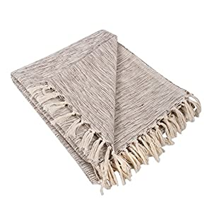 "CONSTRUCTION - Throw measures 50 x 60"", made of 100% woven cotton with 2. 5"" decorative fringe finish that won't unravel in wash QUALITY IN THE DETAILS - Old-fashioned look with a modern twist, these blankets are durable and versatile. An easy way to..."