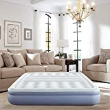 Thomasville Lumbar Lift Express Tri-Zone Support Raised Air Bed Mattress with Express Pump, 12' Queen