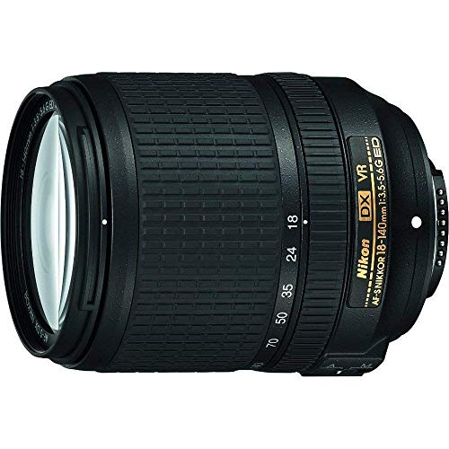 Nikon AF-S DX NIKKOR 18-140mm f/3.5-5.6G ED Vibration Reduction Zoom Lens with Auto Focus for Nikon DSLR Cameras (Renewed)