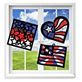 VHALE Suncatcher Kit for Kids, 3 Sets of Stained Glass Effect Paper Suncatchers (9 Cutouts, 27...