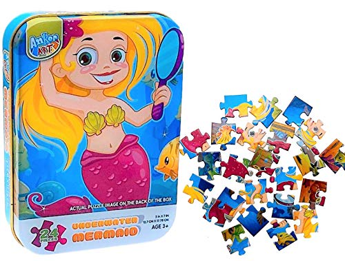 Mini Puzzles For Toddlers (1 Pack Underwater Mermaid) 3-5...
