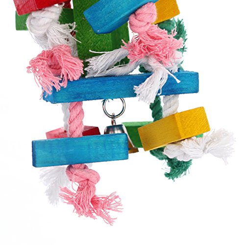 Bird | Pure Natural Wood Parrot Toys, Bvanki Parrot Toys 20 inch L 6 inch W Block Chewing Toy, Bird Toys (Large)., Gym exercise ab workouts - shap2.com
