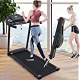 Treadmill with Ipad Mount Bluetooth Speakers &12 Preset Programs,Folding Electric Treadmills LCD Monitor, Walking Jogging Machine for Home/Gym,Low Noise,300 lb Capacity (2.5HP Electric Treadmill)