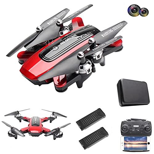 Lilon Drone GPS HJ38 con Doppia Fotocamera grandangolare da 120 , Drone FPV WiFi 5G con Funzione Follow Me, quadricottero RC Pieghevole con Presa in altitudine con videocamera HD 4K, 2 batterie