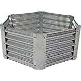 Sunnydaze Raised Metal Garden Bed Kit, Galvanized Steel 40-Inch Hexagon Planter for Plants and Vegetables, 16 Inches Deep