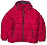 Tommy Hilfiger Men's Classic Hooded Puffer Jacket (Standard and Big & Tall), Red, Large