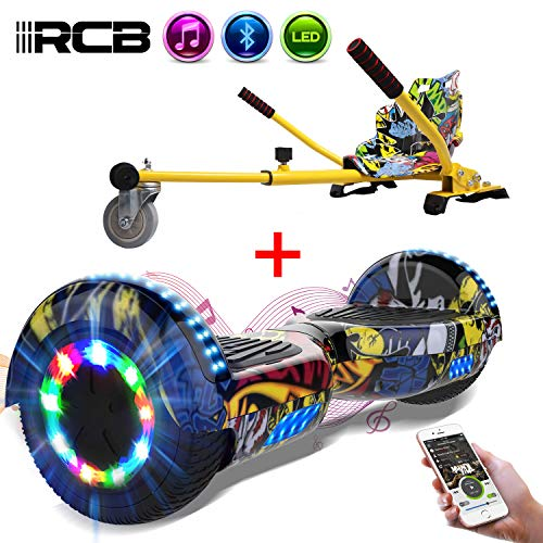 RCB Elettrico Scooter Elettrico con Hoverkart Go-Kart Costruito in luci a LED Bluetooth Speaker...