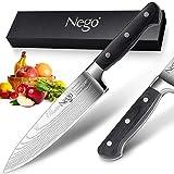 Couteau de chef- Couteau de cuisine 8inch, lame tranchante en...