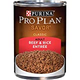Purina Pro Plan Pate Wet Dog Food, SAVOR Beef & Rice Entree - (12) 13 oz. Cans