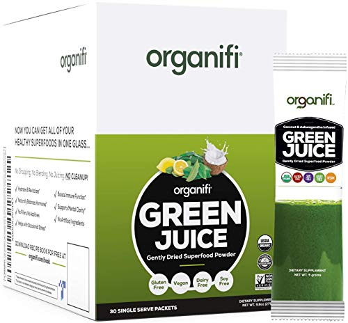 Organifi: GO Packs - Green Juice - Organic Superfood Supplement Powder - 30 Count - Organic Vegan Greens - Hydrates and Revitalizes - Support Immunity, Relaxation and Sleep 1