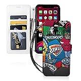 Nba Iphone11ケース手帳型、落下防止カード収納、ウォレットタイプ、完全保護、携帯電話保護カ……