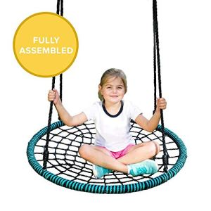 Play-Platoon-Spider-Web-Tree-Swing-40-Inch-Diameter-Fully-Assembled-600-lb-Weight-Capacity-Easy-to-Install