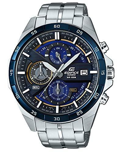 Casio Edifice Herrenarmbanduhr EFR-556DB-2AVUEF, blau schwarz, massives Edelstahlgehäuse und Armband, 10 BAR