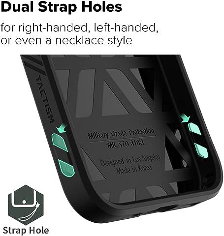 TACTISM iPhone 12 Pro Max ケース 耐衝撃 米軍MIL規格 ストラップホール 滑り止め ミリタリーデザイン ALPHA タクティカルブラック