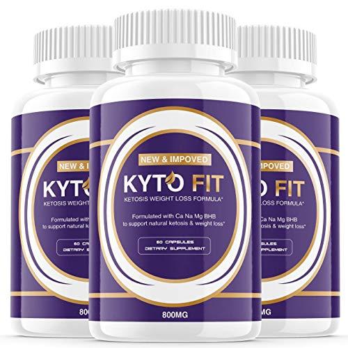 (3 Pack) Kyto Fit Pills 800mg, Kyto Fit Diet Pills Capsules BHB Supplement, Complete Ketogenic Diet for Beginners, BHB Ketones Slim Pills for Energy, Focus for Men Women (180 Capsules) 1