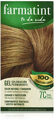Farmatint Gel 7C Rubio Ceniza | Color natural y duradero | C