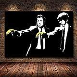 HGlSG DIY Pintar por números Pintura de Arte de película clásica de Pulp Fiction Animales de Pintura Digital con Pincel y Pintura acrílica Pintura por números para Adultos pinturas40x60cm(Sin Marco)