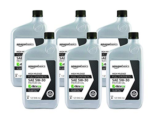 AmazonBasics High Mileage Motor Oil - Full Synthetic - 5W-30 - 1...