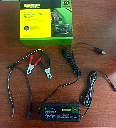 JOHN DEERE FULLY AUTOMATIC 1.5 AMP BATTERY CHARGER MAINTAINER- TY25866