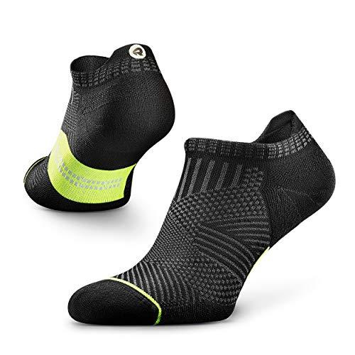 Rockay Accelerate Anti-Blister Running Socks for Men and Women, Cushion, Ankle Cut, Arch Support, Anti-Odor (1 Pair)