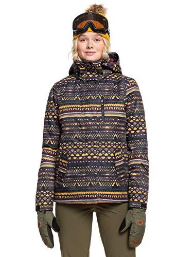 Roxy Jetty, Giacca da Snowboard Donna, True Black New Geometric, M