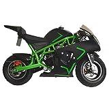 Superrio New Gas Mini Pocket Bike Motorcycle 40cc 4-Stroke Engine (Green)