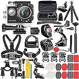Neewer Kit de Caméra d'action G1 Ultra HD 4K 12 MP, Caméra Etanche sous-Marine à 30m 170 Degrés...