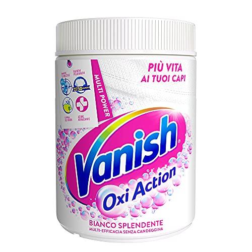 Vanish Oxi Action Polvere Bianco Splendente, Smacchiatore per Bucato, Smacchiatore per Capi Bianchi, Confezione da 1 Kg