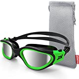 ZIONOR Swim Goggles, G1 Polarized Swimming Goggles UV Protection Leakproof Anti-Fog Adjustable Strap for Adult Men Women (Polarized Lens Black Green) (Misc.)