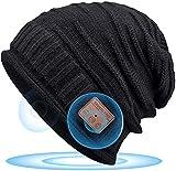 HANPURE Bonnet Bluetooth Cadeau Homme Noël - Musique Bonnet Idées Cadeaux Femme & Homme Original, Bluetooth Chapeau d'hiver Coffret Cadeaux Noël/Saint-Valentin/Nouvel an/Anniversaire