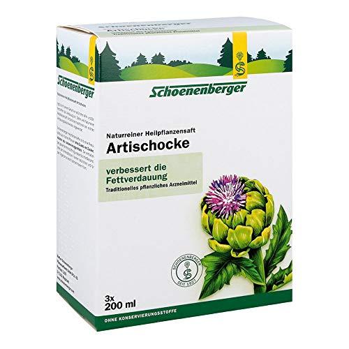 Schoenenberger Artischocke, Naturreiner Heilpflanzensaft – bei leichten Verdauungsbeschwerden - freiverkäufliches Arzneimittel, 600 ml