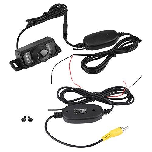 7pcs LED Night Vision per telecamera di retromarcia auto senza fili, trasmettitore e ricevitore video RCA wireless IR