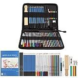 AGPTEK Crayons de Dessin Art Set Professionnel, 53PCS inclus Crayons...