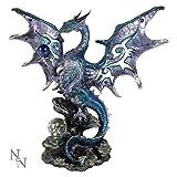 Nemesis Now Figurine de Protection Dragon Bleu 26 cm