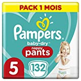 Couches Culottes Pampers Taille 5 (12-17 kg) - Baby Dry Nappy Pants, 132...