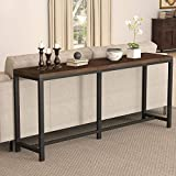 Tribesigns 70.9 inch Extra Long Solid Wood Console Table Behind Sofa Couch, Narrow Entryway Table Skinny Hallway Table for Living Room, Small Space