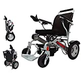 Porto Mobility Ranger D09 Lightweight Foldable Weatherproof Exclusive Electric Wheelchair, Portable, Brushless Powerful Motors, Dual Battery, All Terrain Folding Power Wheelchair (Silver, Standard)