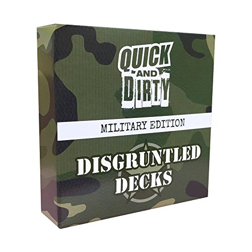 Quick And Dirty: Military - Fast, Fun, Comedy Game by Disgruntled Decks