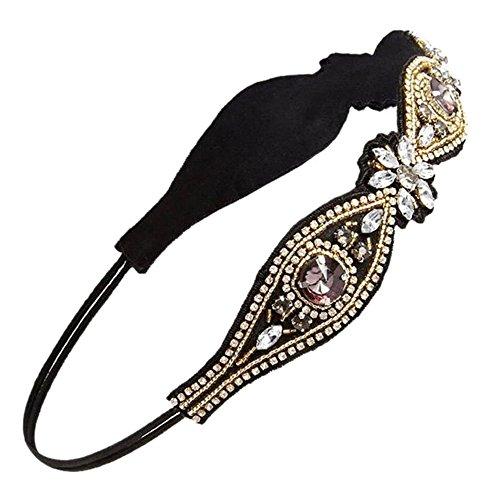 Sanwood Elegant Luxury Boho Handmade Crystal Rhinestone Jewelry Beads Bridal Wedding Evening Page…