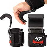 Armageddon Sports Premium Weight Lifting Wrist Hooks Straps for Maximum Grip Support - Deadlift Gloves and Grip Pads Alternative in Fitness Gym Power Training Like Pull Up Deadlifting & Shrugs